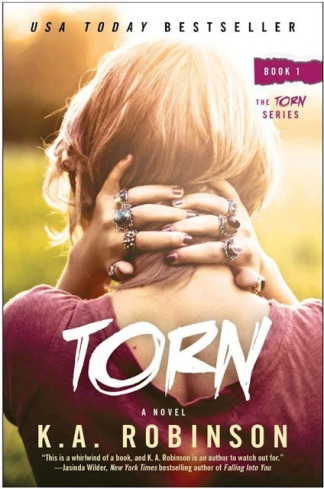 torn book cover